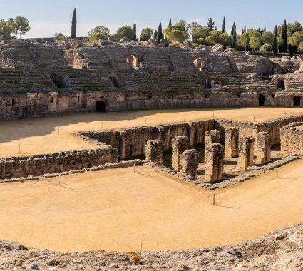 Ruinas romanas de Itálica, en Santiponce, Sevilla