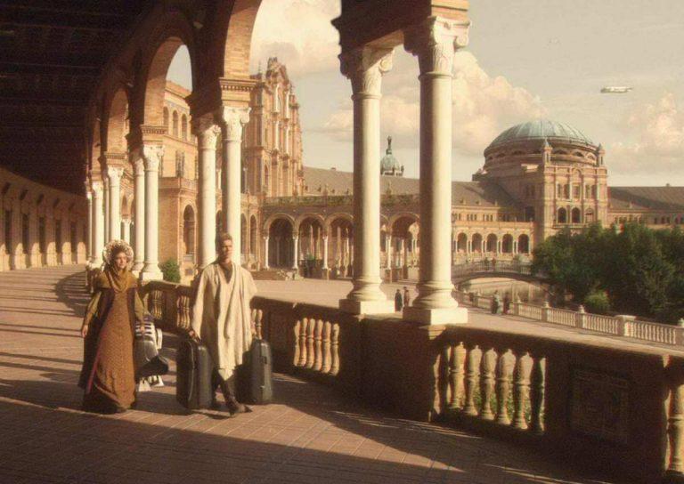 Lugares de rodajes de cine en Sevilla, como Star Wars en Plaza de España.